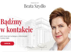 Premier Beata Szydło: bądźmy w kontakcie!