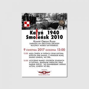 Upamiętnienie ofiar Katynia i Smoleńska w Londynie