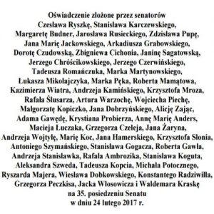 """Oświadczenie w sprawie spektaklu """"Klątwa"""" wystawianego w warszawskim Teatrze Powszechnym"""