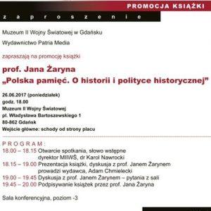 """Promocja książki """"Polska Pamięć"""" w Muzeum II Wojny Światowej w Gdańsku"""