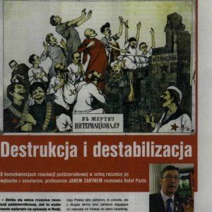 """""""Destrukcja i destabilizacja"""" – wywiad z prof. J. Żarynem o konsekwencjach rewolucji październikowej"""