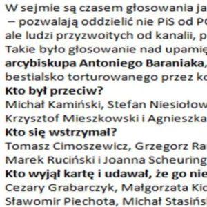 Niektóre głosowania w Sejmie są jak papierek lakmusowy – pokazują prawdziwe oblicze parlamentarzystów