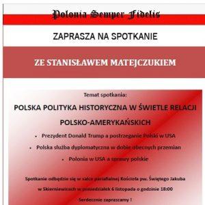 Polonia Sepmer Fidelis zaprasza na spotkanie ze Stanisławem Matejczukiem