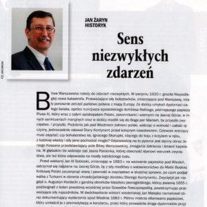 """""""Sens niezwykłych zdarzeń"""" – artykuł prof. Jana Żaryna w dziale historii Polski Zbojnej"""