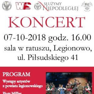 Koncert Patriotyczny z okazji 100-lecia odzyskania przez Polskę Niepodległości w Legionowie