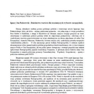 List p. Ryszarda Domańskiego – członka założyciela stowarzyszenia Polska Jest Najważniejsza