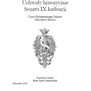 Uchwały historyczne Senatu IX kadencji – zeszyty zespołów senackich (zeszyt 41)