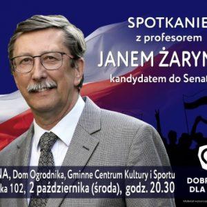 Spotkania z profesorem Janem Żarynem w gm. Jabłonna w powiecie legionowskim – 2 października 2019 r.