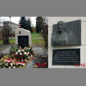 Ceremonia złożenia kwiatów pod tablicami upamiętniającymi generałów Józefa Hallera i Tadeusza Jordan – Rozwadowskiego