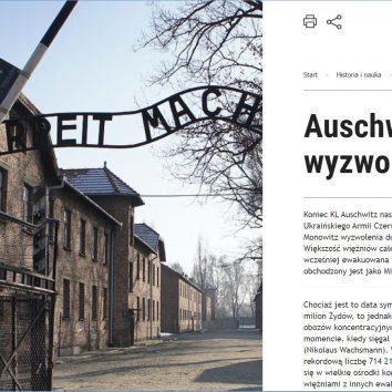 Auschwitz. Gorzki smak wyzwolenia