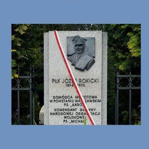 Uroczystość odsłonięcia tablicy poświęconej pułkownikowi Józefowi Rokickiemu